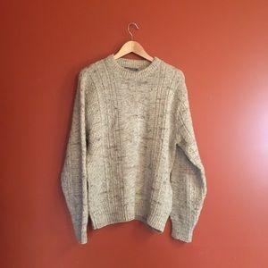 Vtg wool Pendleton oatmeal fleck sweater